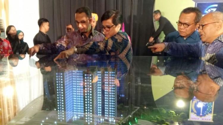 Anies resmikan pembangunan hunian DP 0 Rupiah