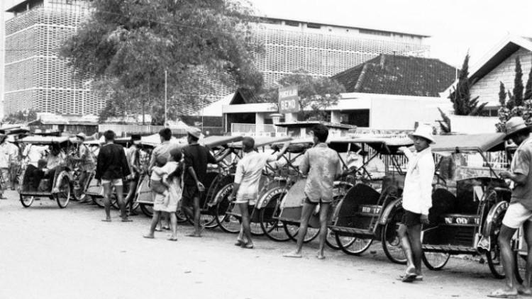 Becak di Jakarta tempo dulu