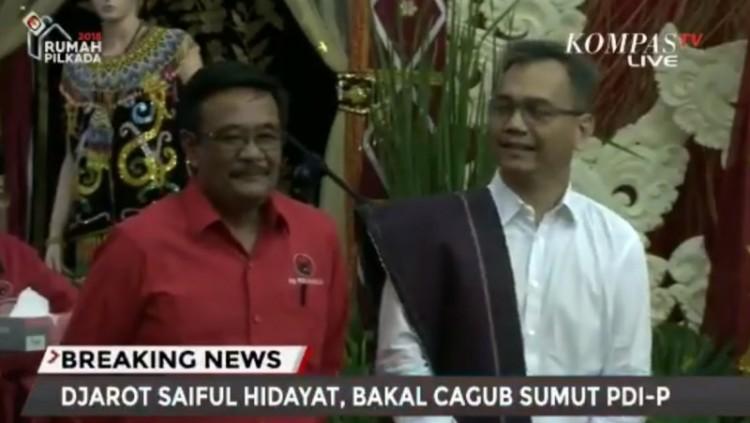 Djarot Saiful Hidayat dan Sihar Sitorus