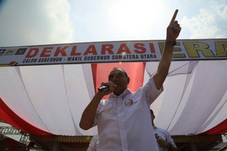 Edy Rahmayadi deklarasi jadi cagub Sumut di Medan