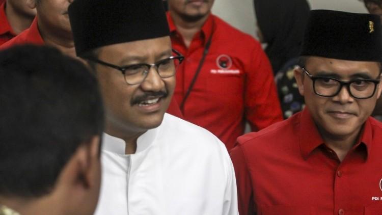 Gus Ipul - Azwar Anas ketika diusung PDIP ke Pilgub Jawa Timur