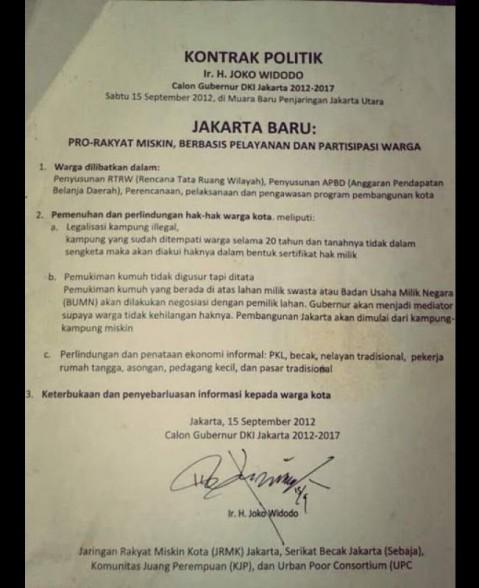 Janji Jokowi soal becak pada 2012