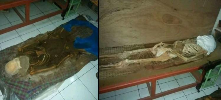 Jasad yang dibiarkan keluarga jadi kerangka dalam rumah di Cimahi