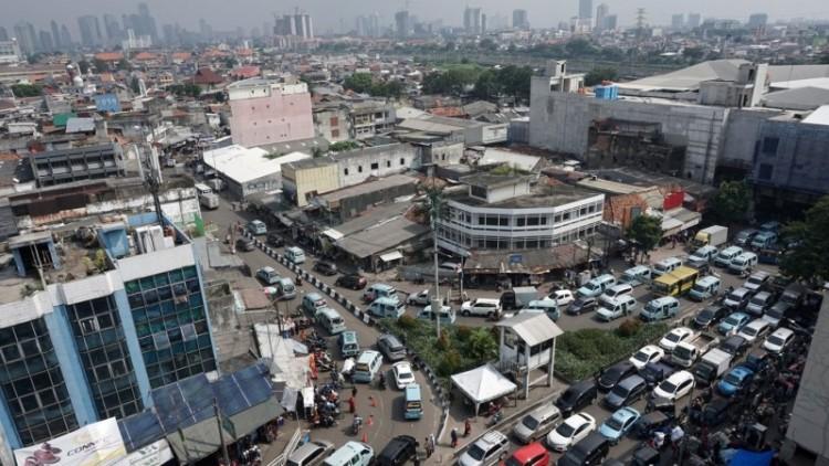 Kemacetan di kawasan Tanah Abang