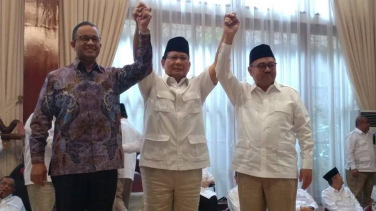 Prabowo mendukung Anies dan Sudirman Said