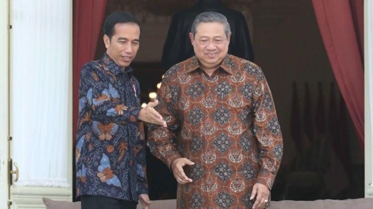 Presiden Jokowi dan SBY di Istana Merdeka