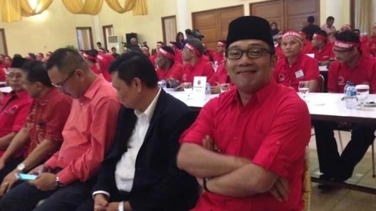 Ridwan Kamil saat menghadiri acara PDIP di Wisma Kinasih, Depok
