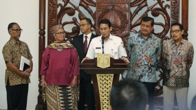 Sandiaga Uno saat pembentukan KPK DKI Jakarta