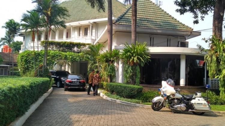 Suasana rumah dinas Gubernur DKI Jakarta di Menteng