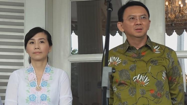 Veronica Tan dan Ahok di Balai Kota