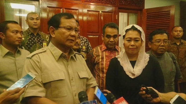 Yenny Wahid usai bertemu Prabowo Subianto
