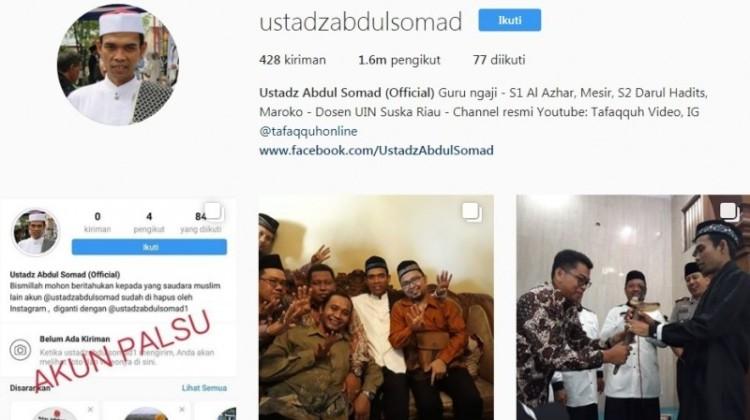 Akun Instagram Abdul Somad sudah kembali aktif