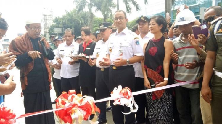 Anies Baswedan meresmikan Underpass Kartini