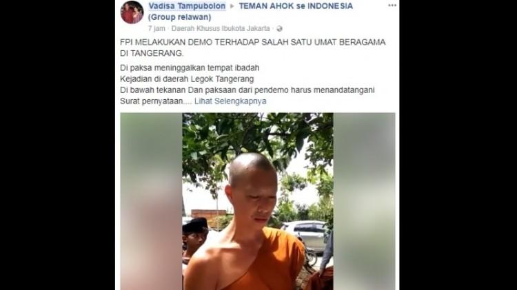 Biksu disebut dilarang kebaktian di Tangsel