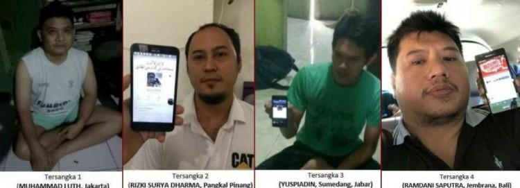 Empat anggota The Family MCA yang ditangkap