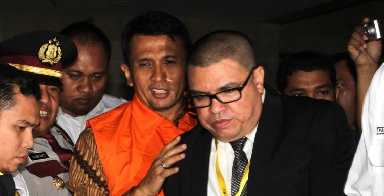 Gatot Pujo Nugroho dan Razman Nasution di gedung KPK