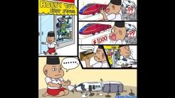 Karikatur karya Onan Hiroshi yang menghina kereta cepat Indonesia
