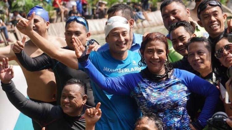 Menteri Susi dan Sandiaga finish bersama