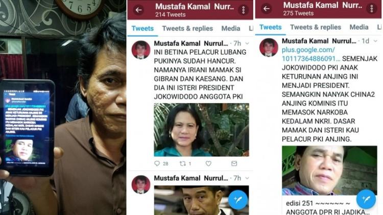 Mustafa Kamal menghina Jokowi dan Iriana