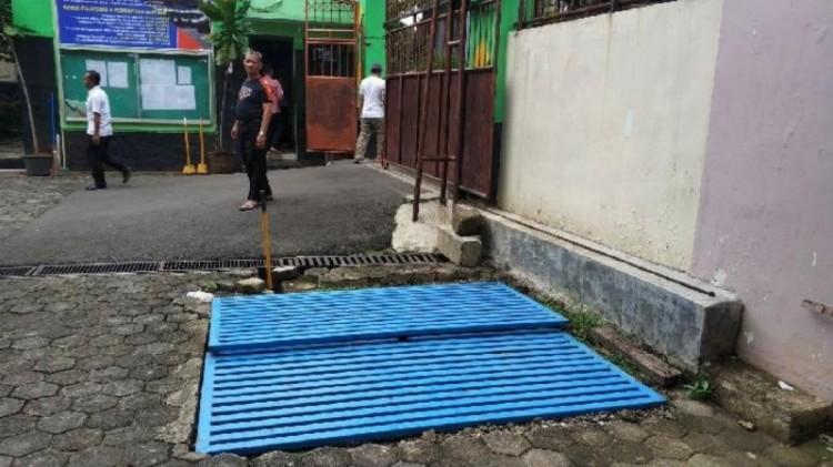 Penampakan penampung air di SMA8 Jakarta