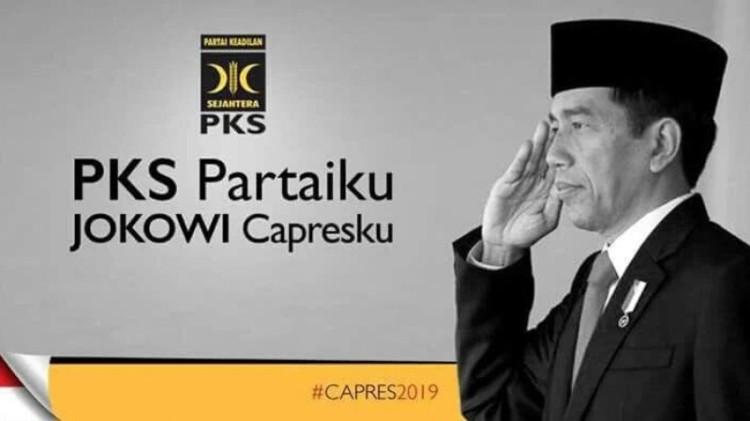 Poster PKS Partaiku Jokowi Capresku
