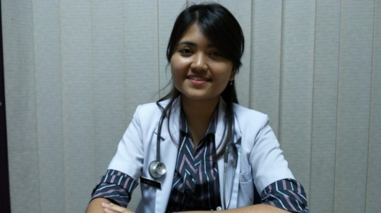 Riris Elsa Panjaitan, dokter di Poliklinik Bidokkes Polda Metro Jaya