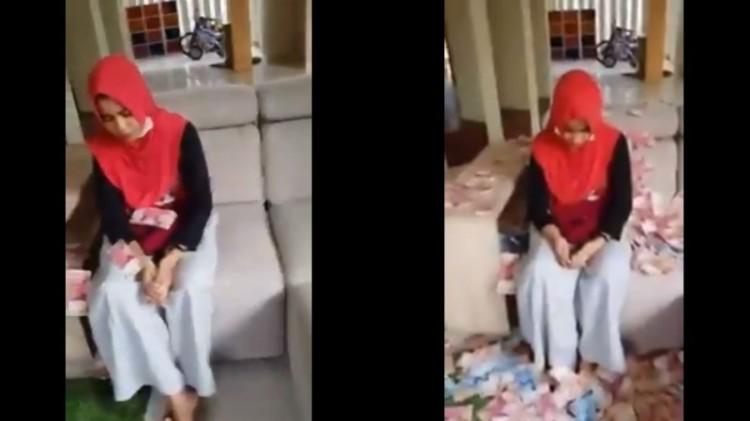 Screenshoot Bu Dendy gebyur uang ke wanita pelakor