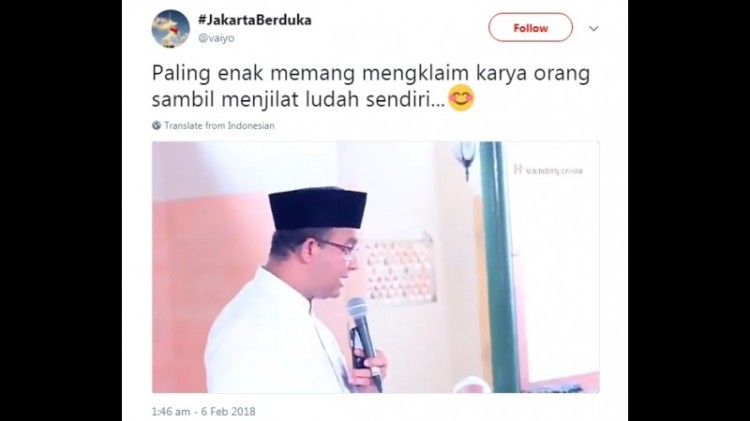 Video Anies menyebut pompa air ke laut melawan Sunnatullah