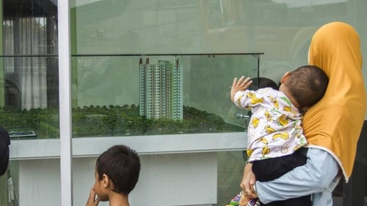 Warga tertarik melihat rumah DP Rp 0 Anies