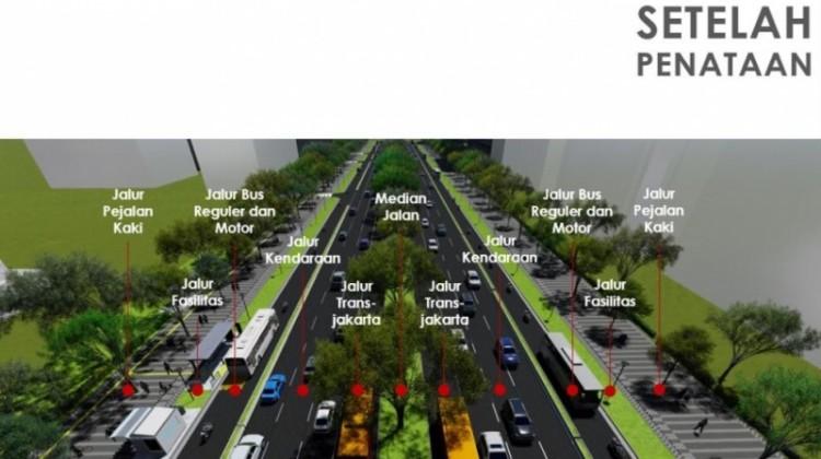 Desain penataan Trotoar Sudirman-Thamrin versi Anies