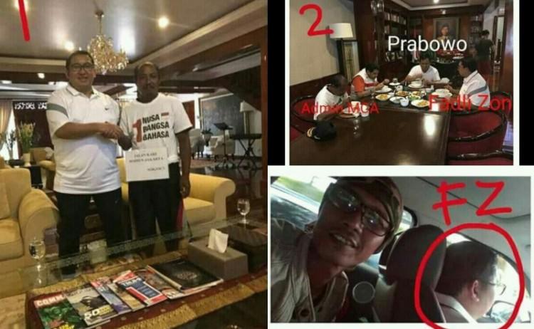 Foto diduga Fadli Zon-Prabowo bersama admin MCA