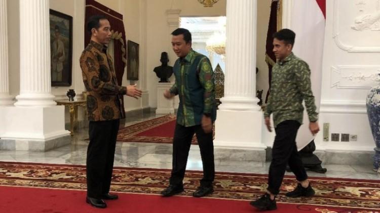 Imam Nahrawi dan Egy Maulana Vikri bertemu Jokowi di Istana