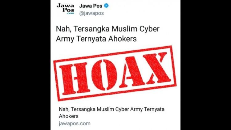 Jawa Pos memuat berita hoax soal MCA