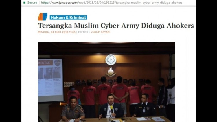 Jawa Pos menyebut anggota MCA Ahokers