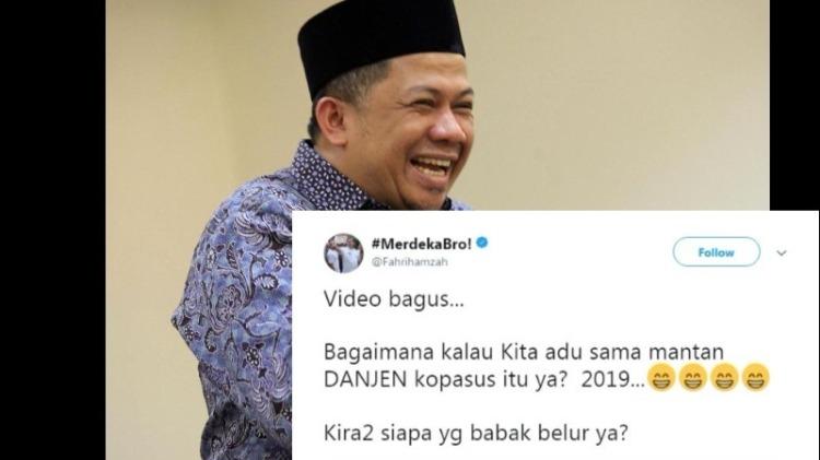 Kicauan Fahri Hamzah soal adu tinju Jokowi vs Eks Danjen Kopasus