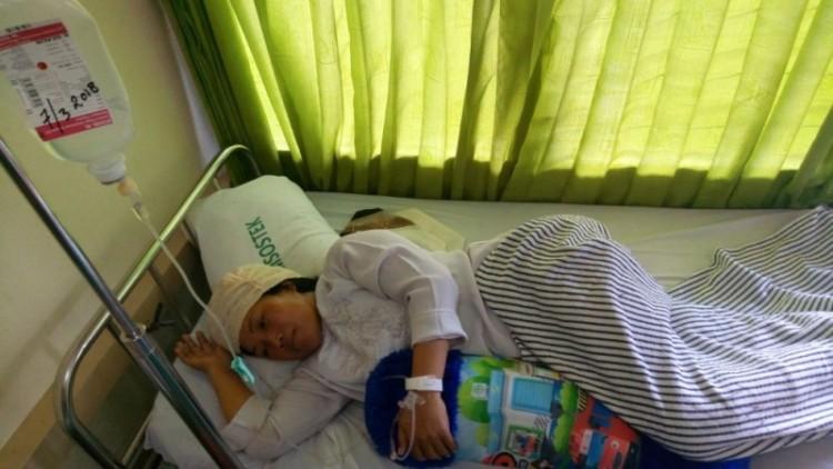 Kondisi Nuzul Kurniawati usai dihajar siswanya pakai kursi