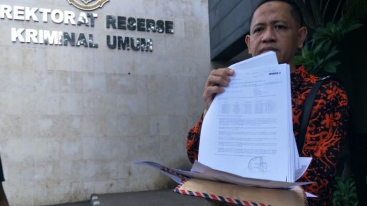 Pengacara YR, Anton Widodo di Polda Metro Jaya