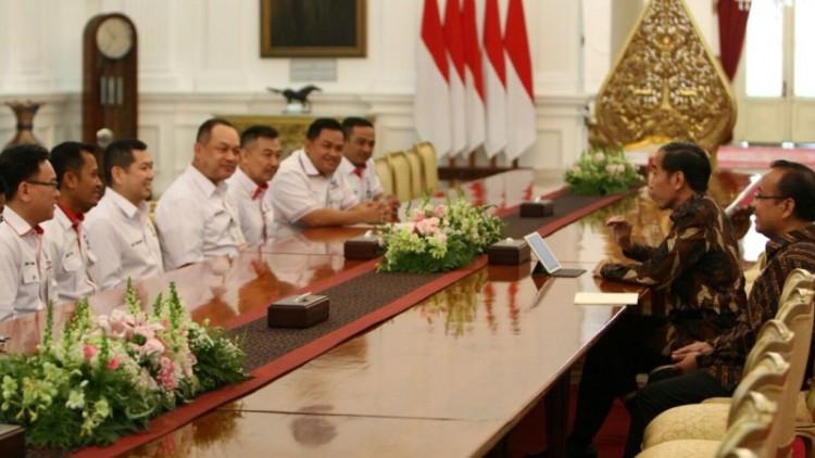 Pertemuan Perindo dan Jokowi di Istana