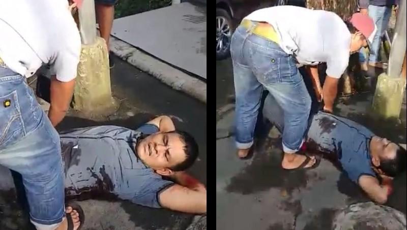Ini Penampakan Bandar Narkoba Terkapar Ditembak di Jalanan Medan