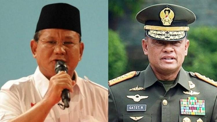 Prabowo dan Gatot Nurmantyo
