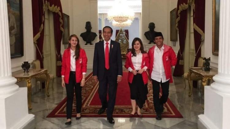 Presiden Jokowi bertemu elite PSI di Istana