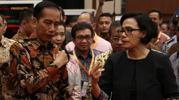 Presiden Jokowi dan Menkeu Sri Mulyani