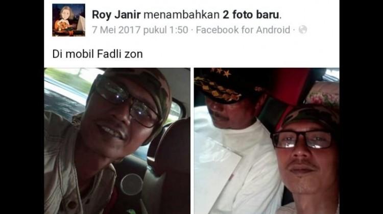 Roy Janir unggah foto saat dalam mobil Fadli Zon