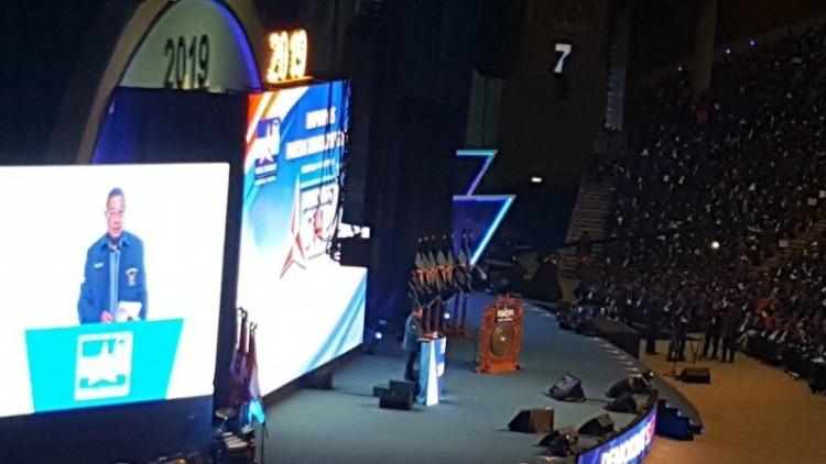 SBY membuka Rapimnas Partai Demokrat di Sentul
