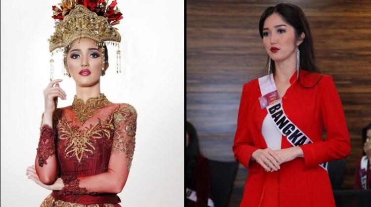 Sonia Fergina Citra saat menjalani karantina Puteri Indonesia