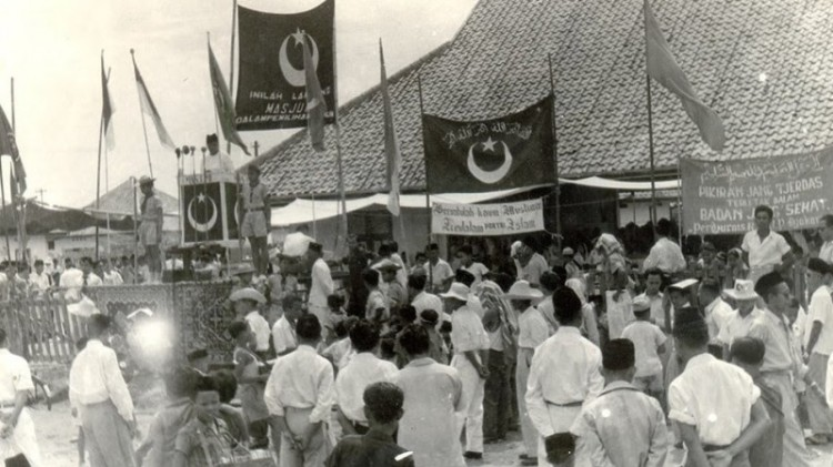 Suasana masa kampanye pada Pemilu 1955