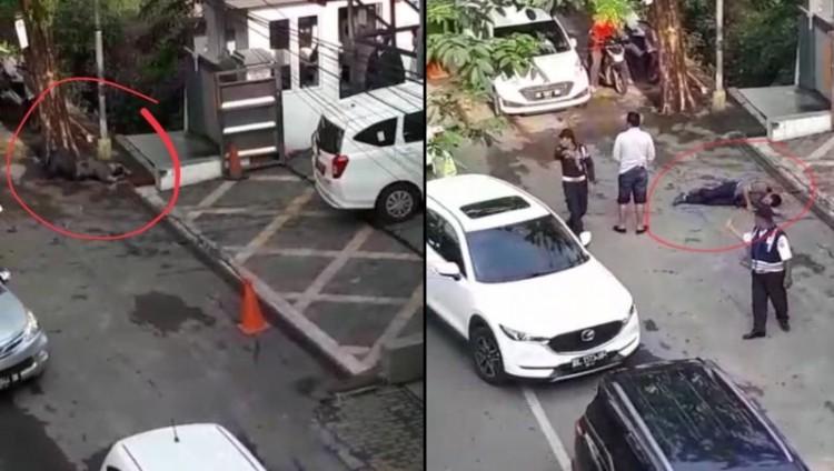 Suasana penembakan bandar narkoba di Jalan Tritura Medan