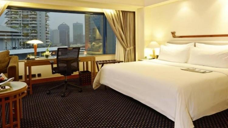 Suasana salah satu kamar di Hotel Le Meridien Jakarta