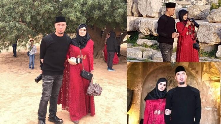 Ahmad Dhani dan Mulan Jameela di Yerusalem