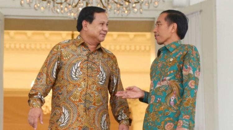 Prabowo dan Jokowi di Istana